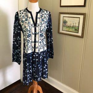 Anthropologie Tiny sz S blue & white dress